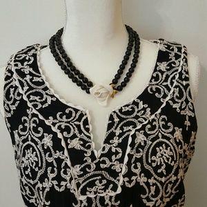 SARA CAMPBELL BLACK & WHITE DRESS SIZE 8